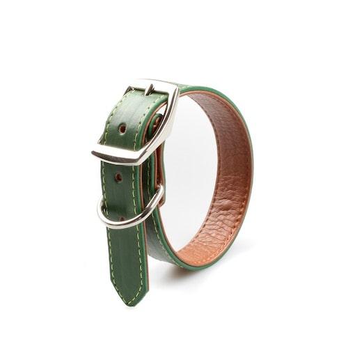 Halsband Mossy Green Grün / Braun